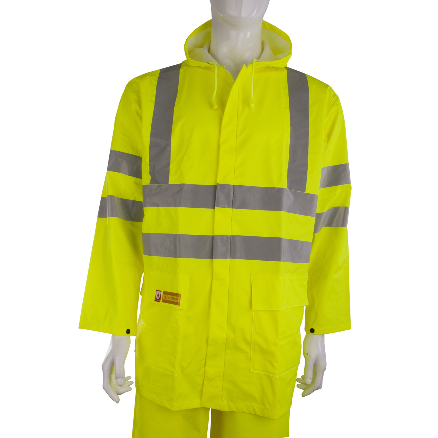 B-Seen Fire Retardant Jacket Anti-static Large Sat Yellow Ref CFRLR55SYL *Up to 3 Day Leadtime*