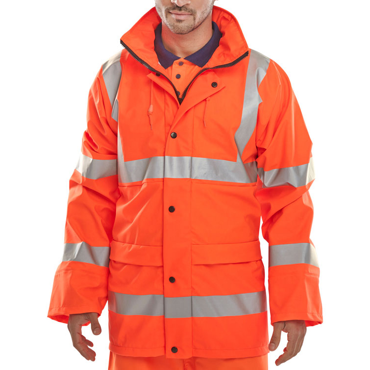 BSeen High Visibility Super B-Dri Breathable Jacket Medium Orange Ref PUJ471ORM Up to 3 Day Leadtime