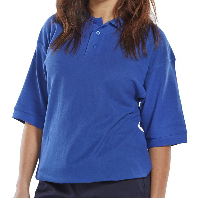 Click Premium Polo Shirt 260gsm L Royal Blue Ref CPPKSRL Up to 3 Day Leadtime