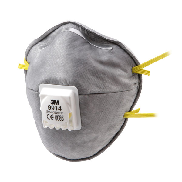 3M Mask FFP1V with 3M Cool Flow Valve Grey Ref 9914 [Pack 10] *Up to 3 Day Leadtime*