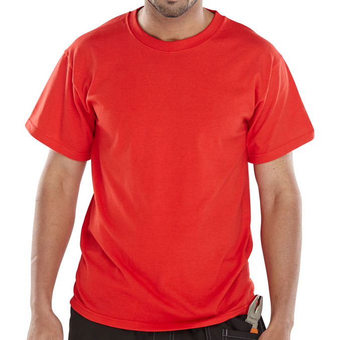 Click Workwear T-Shirt Heavyweight L Red Ref CLCTSHWREL *Up to 3 Day Leadtime*
