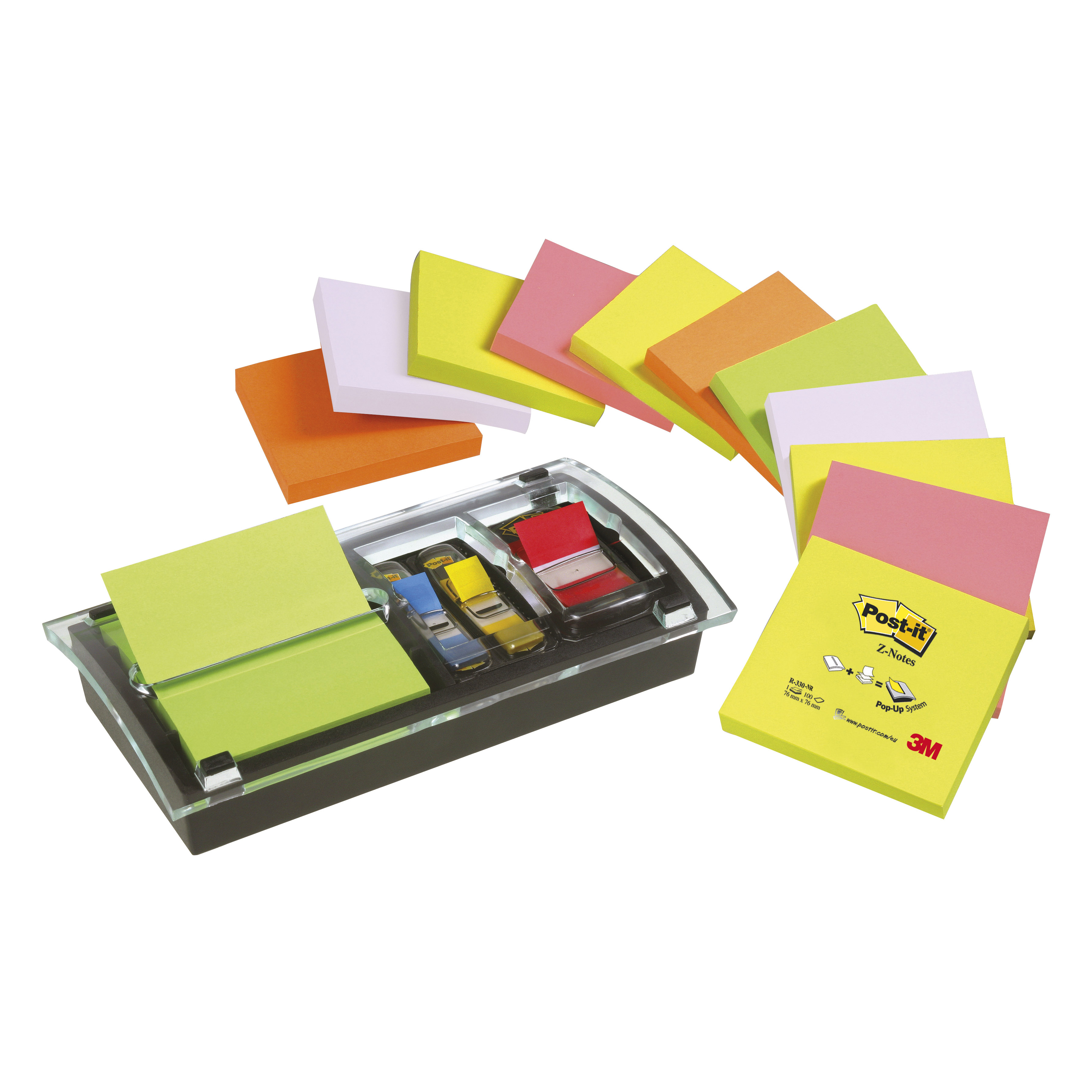 Post-it Note Value Pack 3x3 Ref DS100-VP Pack 12 and Free Dispenser