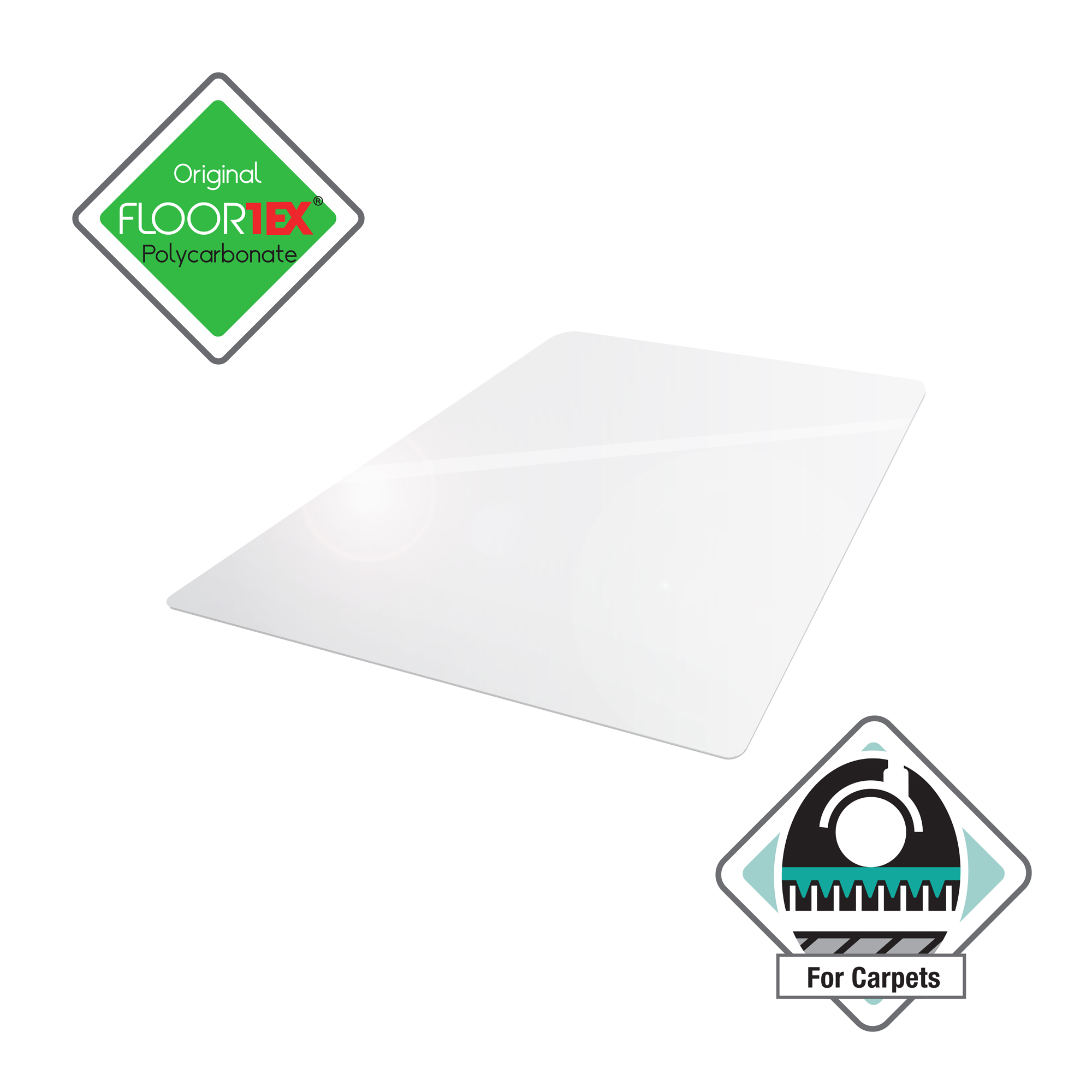 Chair mat Cleartex Ultimat Chair Mat Polycarbonate Rectangular Carpet Protection 1190x890mm Clear Ref FC118923ER