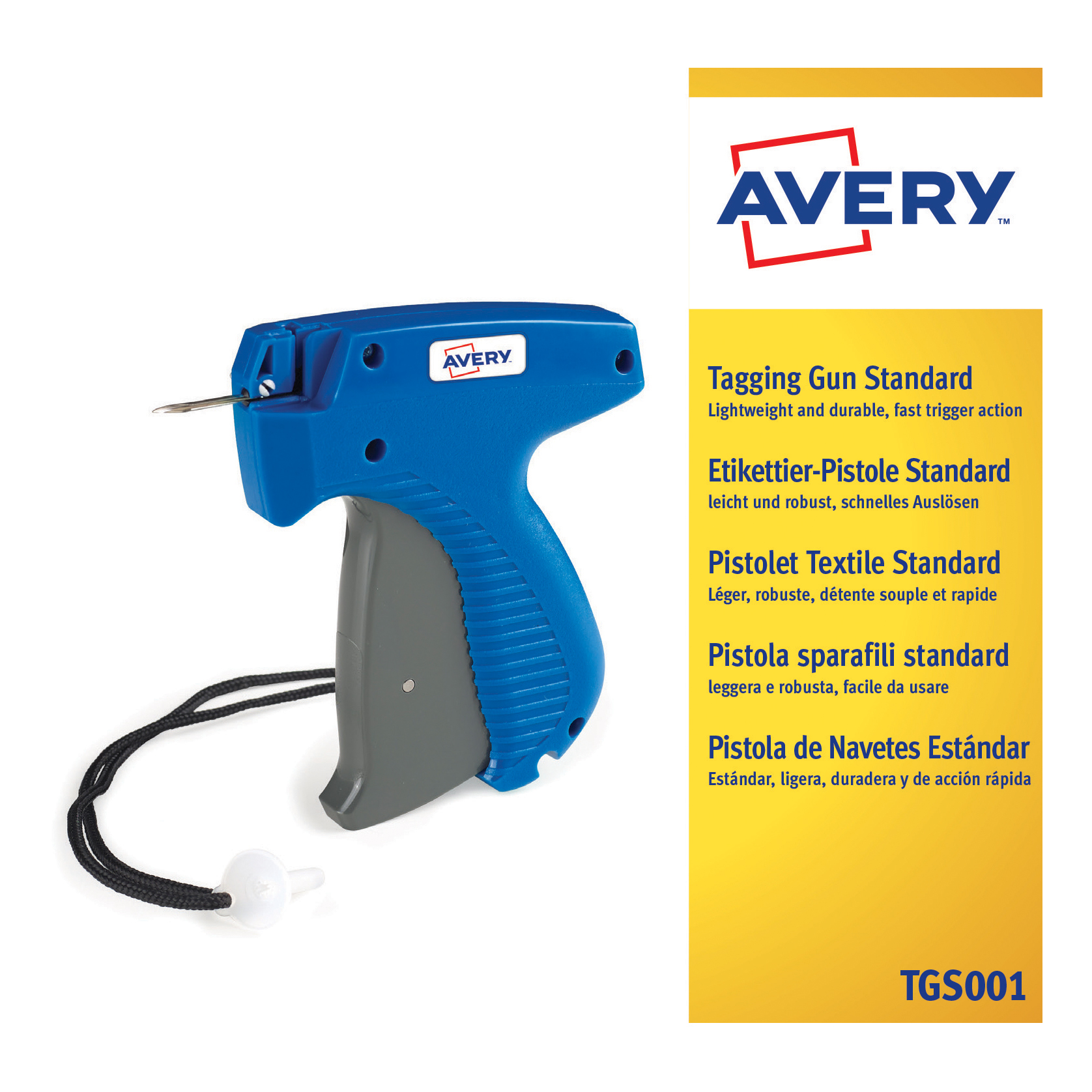 Tag guns Avery Standard Tagging Gun for Plastic Fasteners to Products and Tickets Ref TGS001