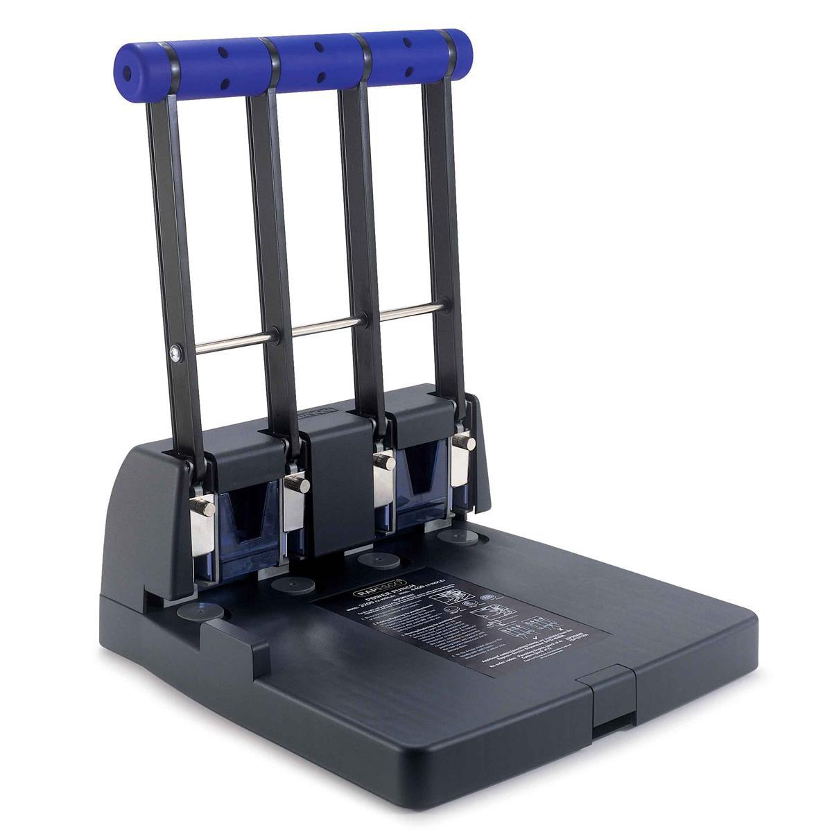 Rapesco ECO 4400 Heavy-duty Punch 4-Hole Capacity 150x 80gsm Black Ref PF4000A1