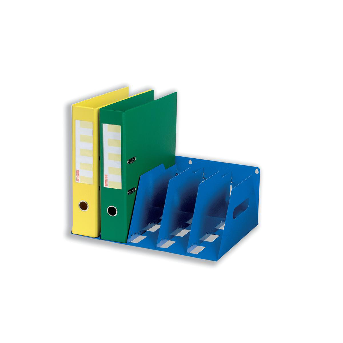 Image for Lever Arch Filing Rack Portable Rigid Metal W425xD300xH160mm Blue