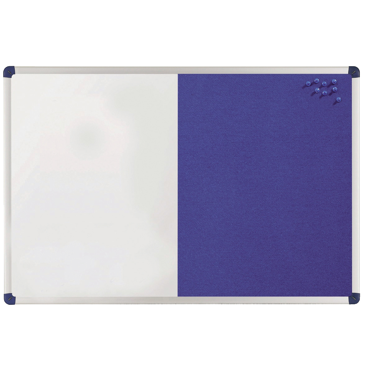 Magnetic Nobo Classic Combination Board Magnetic Drywipe and Felt W1200xH900mm Blue Ref 1902258