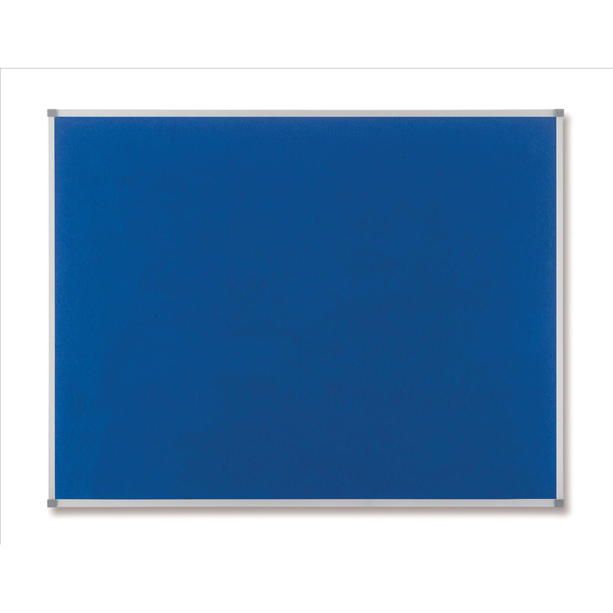 Nobo Classic Noticeboard Felt with Aluminium Frame W900xH600mm Blue Ref 1900915