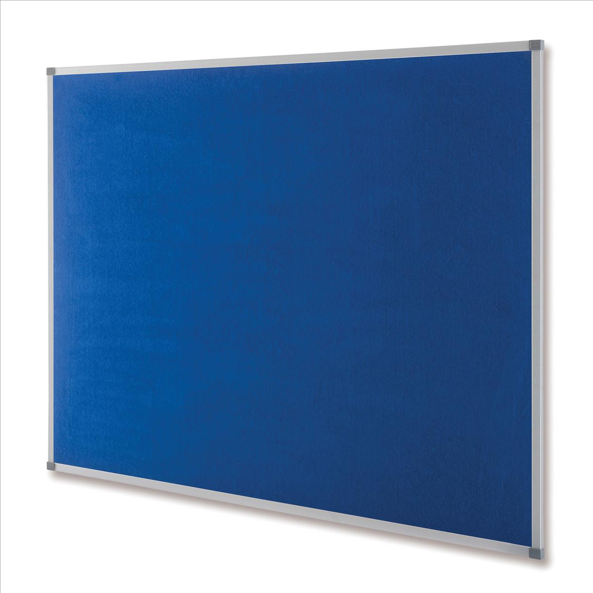Nobo Classic Noticeboard Felt with Aluminium Frame W900xH600mm Blue Ref 1900915