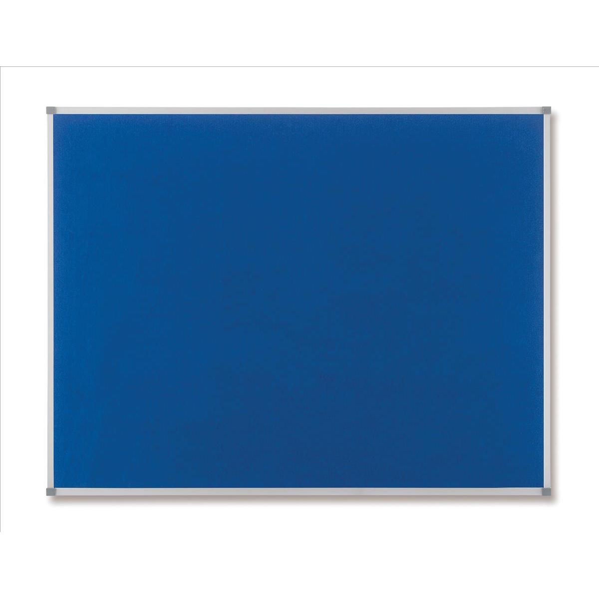 Felt Nobo Classic Noticeboard Felt with Aluminium Frame W1200xH900mm Blue Ref 1900916