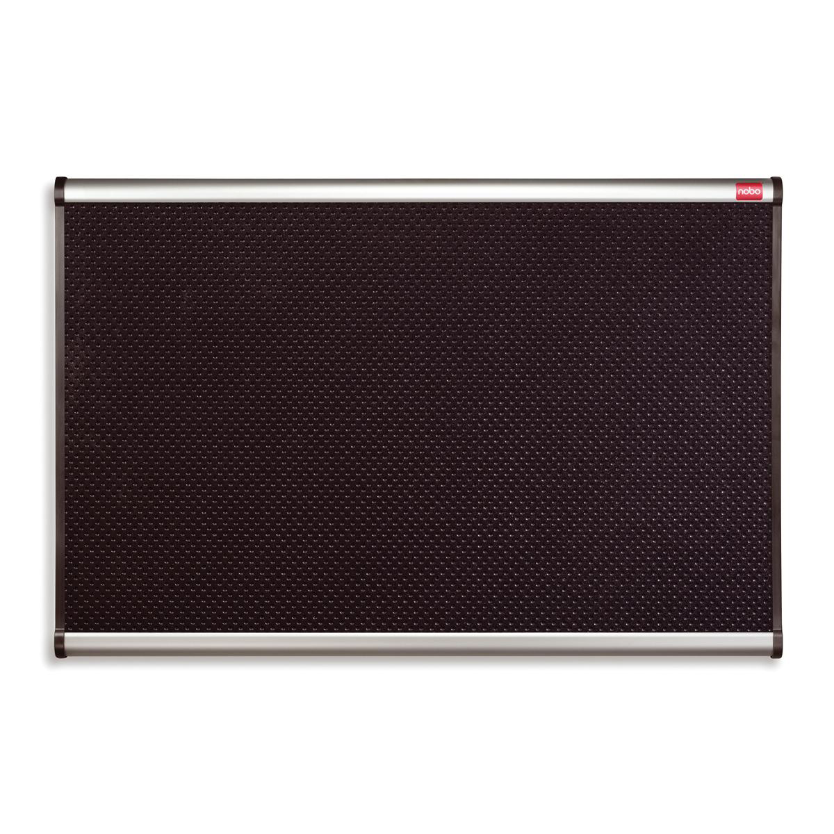 Nobo Prestige Noticeboard High-density Foam with Aluminium Finish W900xH600mm Black Ref QBPF9060