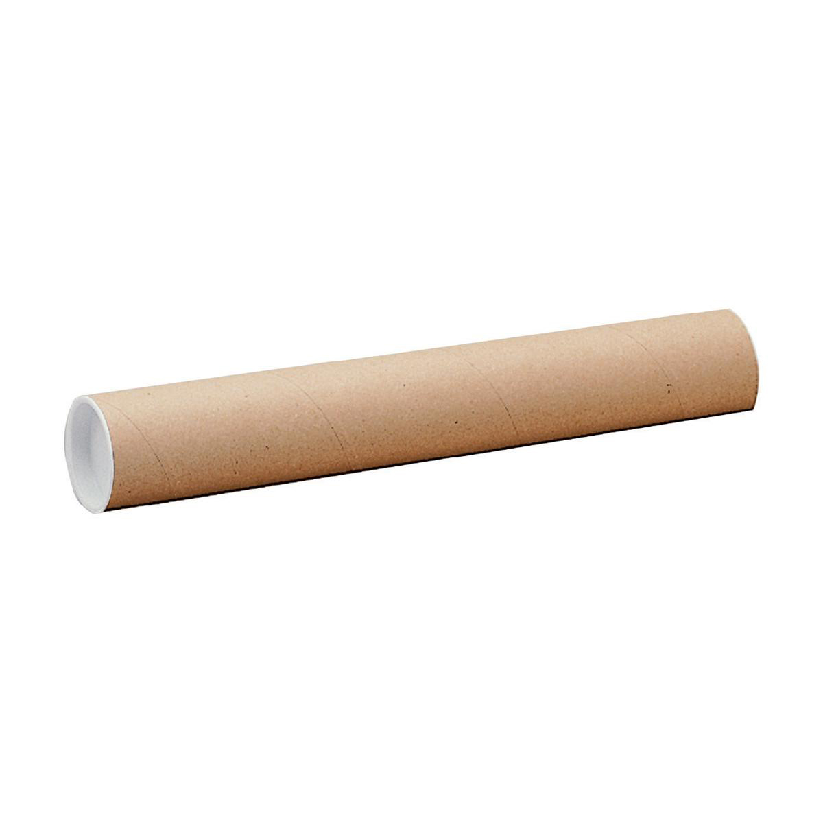 Postal Tube Cardboard with Plastic End Caps L610xDia.76mm RBL10523 Pack 12