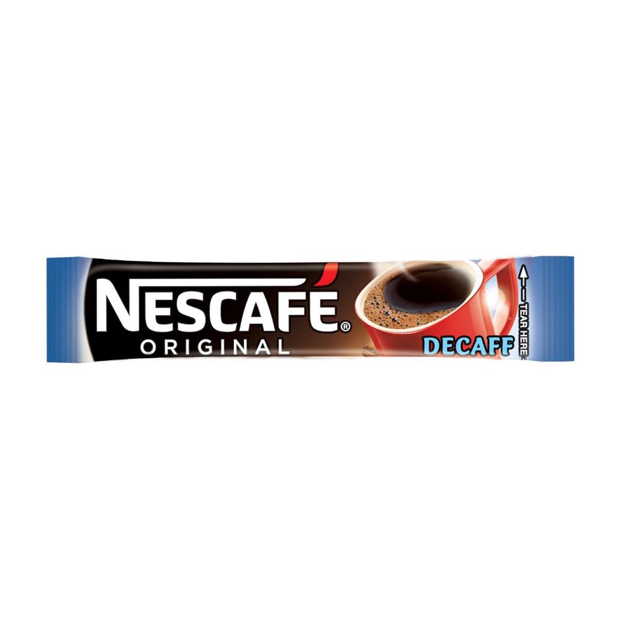 Nescafe Original Instant Coffee Granules Decaffeinated Stick Sachets Ref 12349814 Pack 200