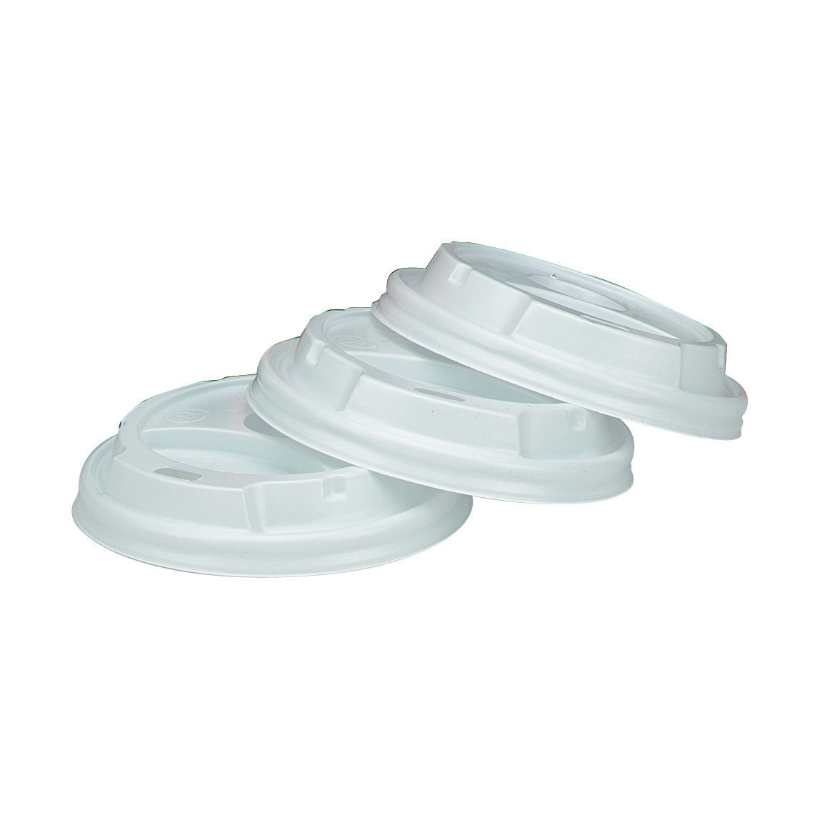 Disposable Cups & Accessories Disposable Sip Thru Lids For Use With 8oz 236ml Ripple Cups White Ref 0511054 Pack 100