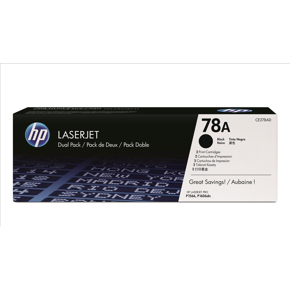 Hewlett Packard [HP] No. 78A Laser Toner Cartridge Page Life 2100pp Black Ref CE278AD [Pack 2]