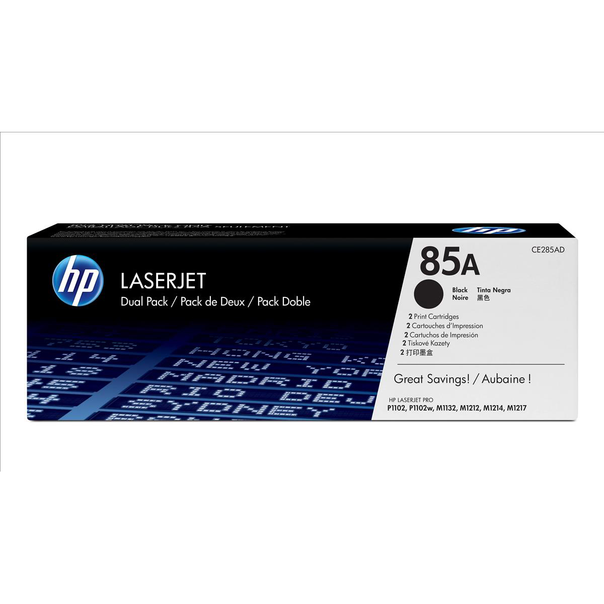 HP 85A Laser Toner Cartridge Page Life 1600pp Black Ref CE285AD Pack 2