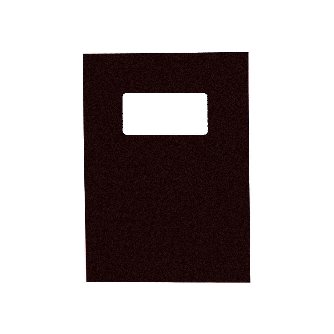GBC Binding Covers Leatherboard Window 250gsm A4 Black Ref 46705E Pack 25x2