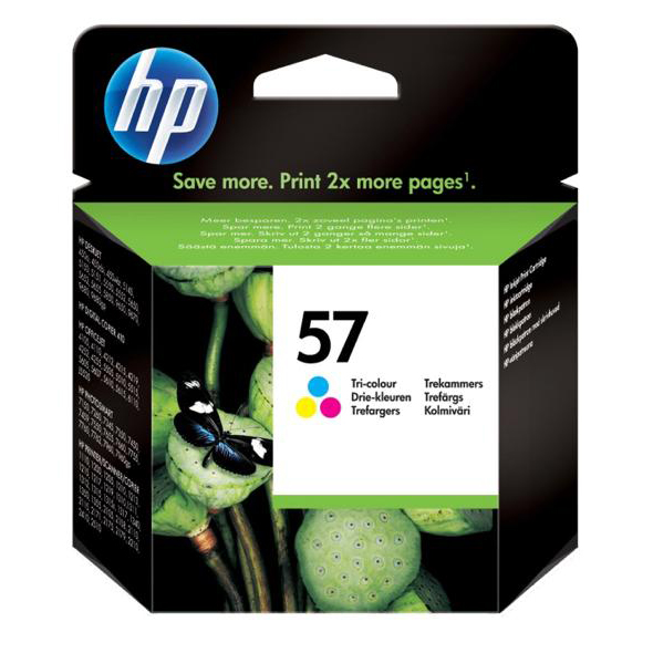 Hewlett Packard HP No.57 Inkjet Cartridge Page Life 500pp 17ml Tri-Colour Ref C6657AE