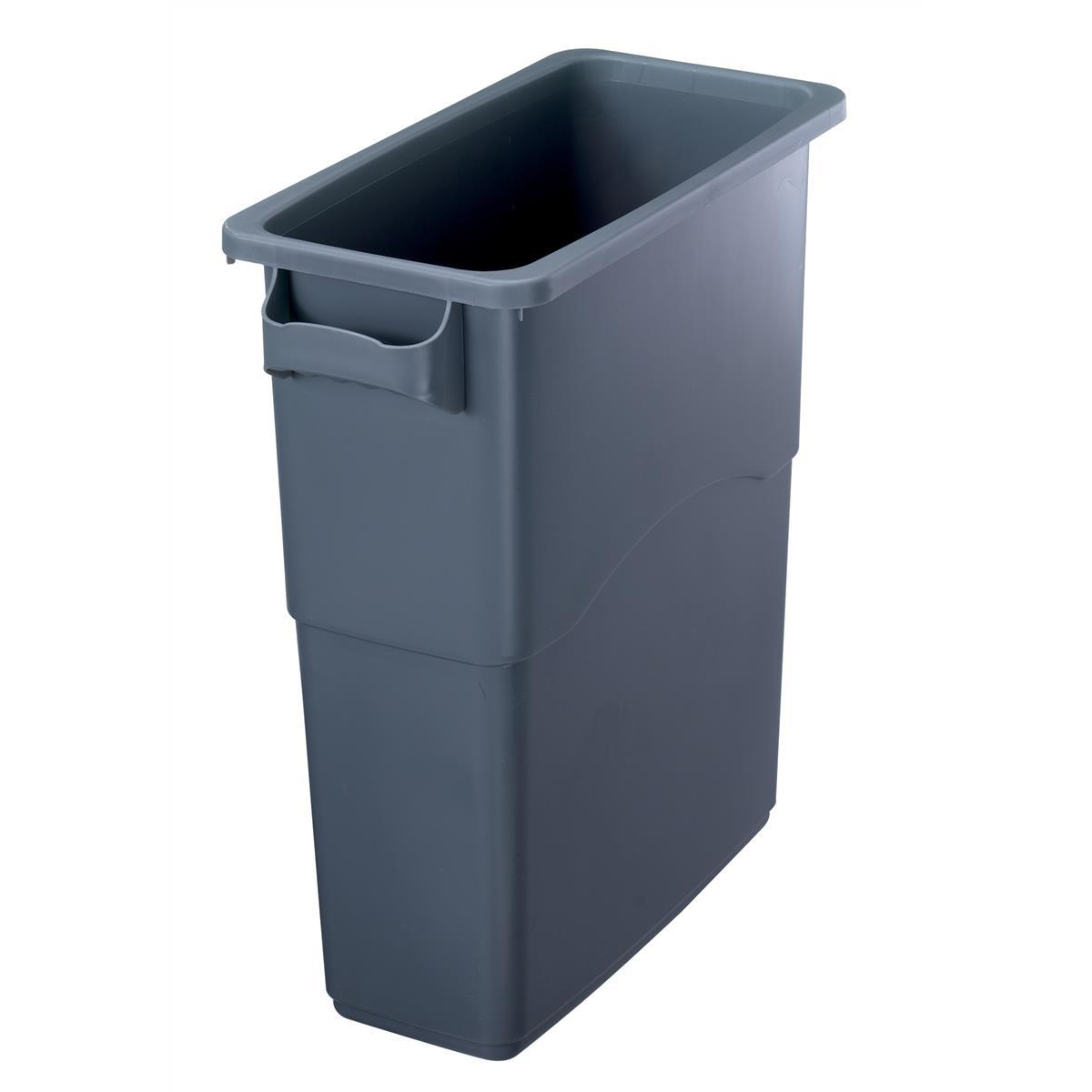 Recycling Bins EcoSort Recycling System Midi Bin 60 Litre Capacity 275x590x635mm Grey Ref SPICEMIDGREY1