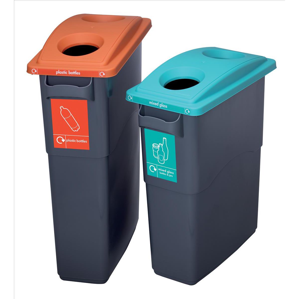 EcoSort Recycling System Midi Bin 60 Litre Capacity 275x590x635mm Grey Ref SPICEMIDGREY1