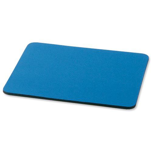 5 Star Office Mouse Mat with 6mm Rubber Sponge Backing W248xD220mm Blue