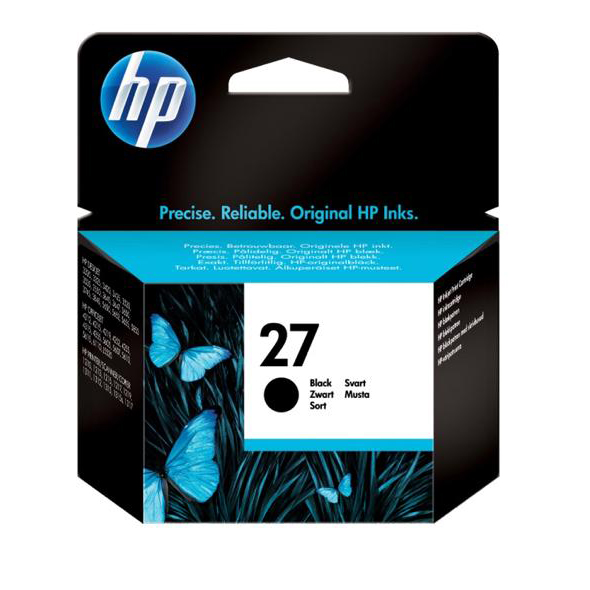 Hewlett Packard [HP] No.27 Inkjet Cartridge Page Life 280pp 10ml Black Ref C8727AE