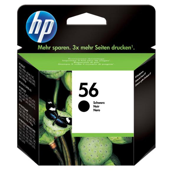 Hewlett Packard [HP] No. 56 Inkjet Cartridge Page Life 520pp 19ml Black Ref C6656AE
