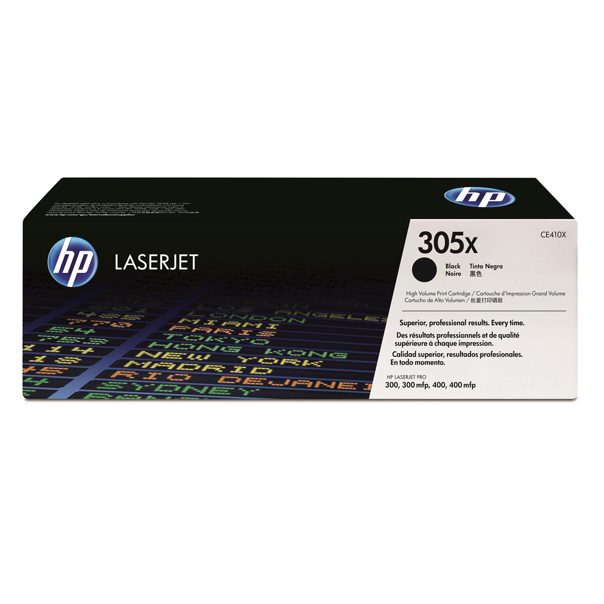 Hewlett Packard [HP] No. 305X Laser Toner Cartridge High Yield Page Life 4000pp Black Ref CE410X