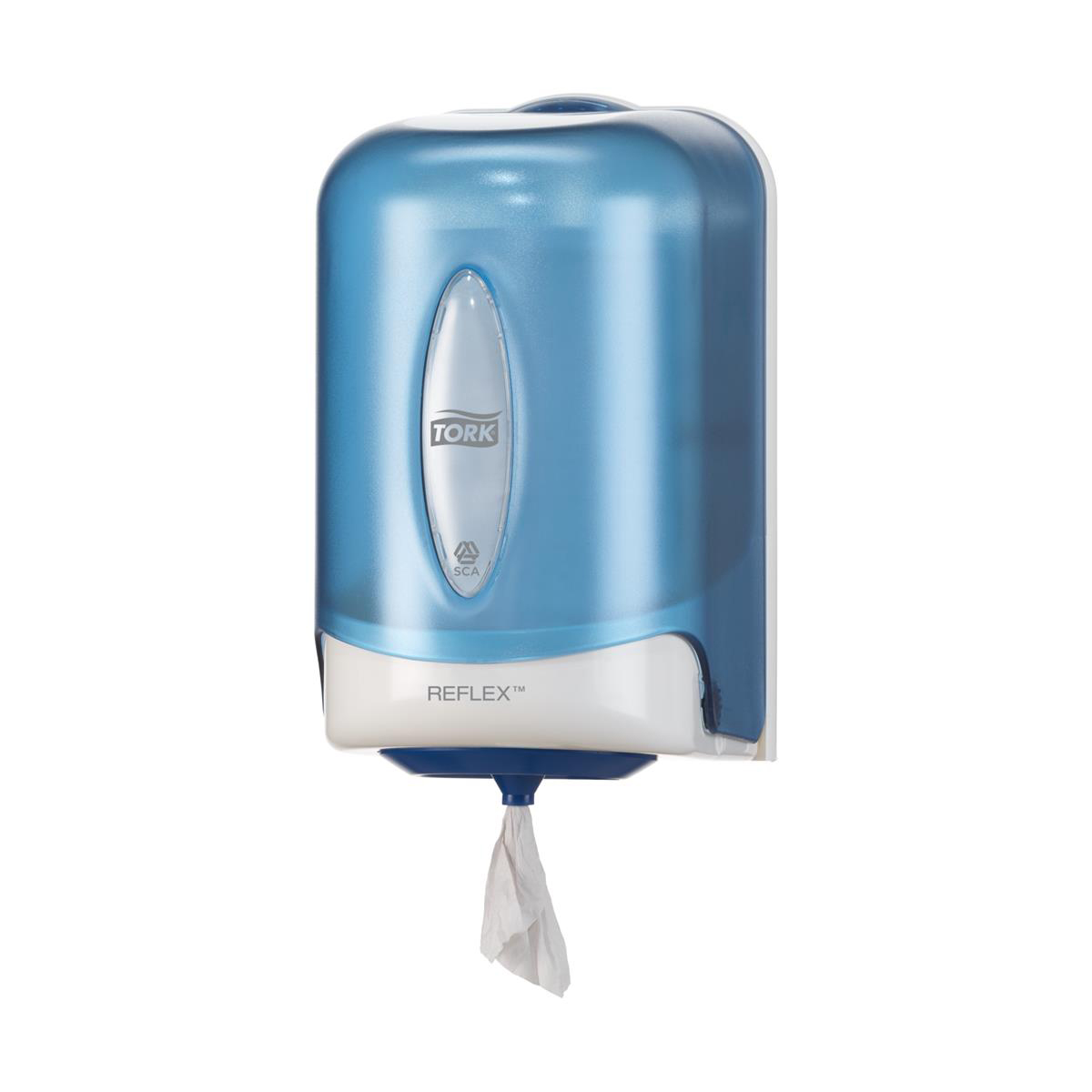 Tork Reflex Single Sheet Mini Centrefeed Dispenser W182xD210xH310mm Plastic Blue Ref 473167