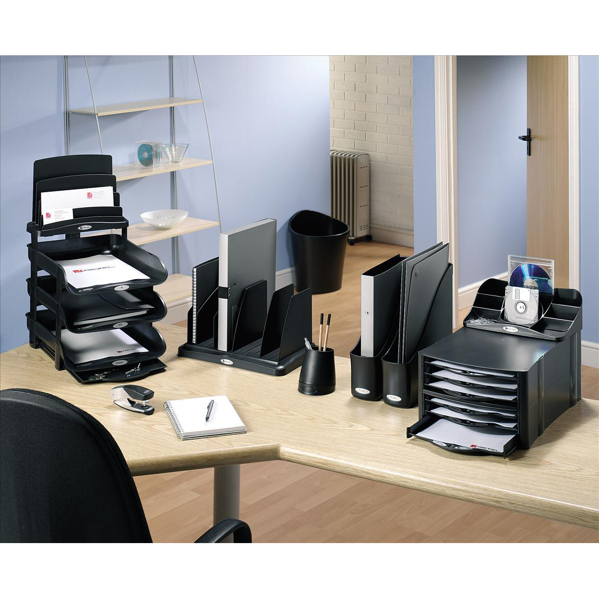 Rexel Agenda 2 Desk Tidy Charcoal Ref 2101028