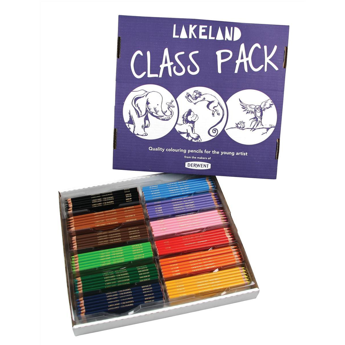 Lakeland Colouring Pencils Class Pack 30 Each of 12 Colours Ref 33329 Pack 360