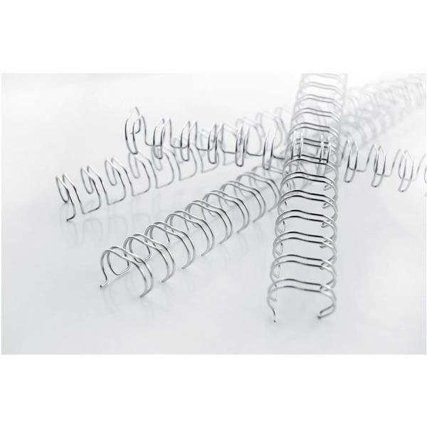 GBC Binding Wire Elements 34 Loop for 85 Sheets 9.5mm A4 Silver Ref RG810697 [Pack 100]