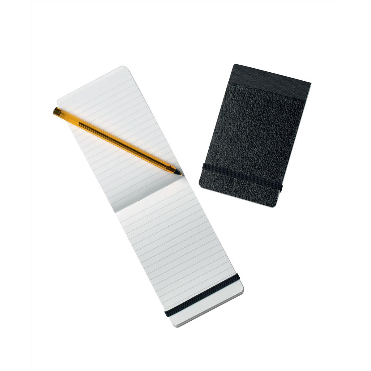 Notebooks Silvine Elasticated Pocket Notebook 75gsm Ruled 160pp 78x127mm Black Ref 190 Pack 12