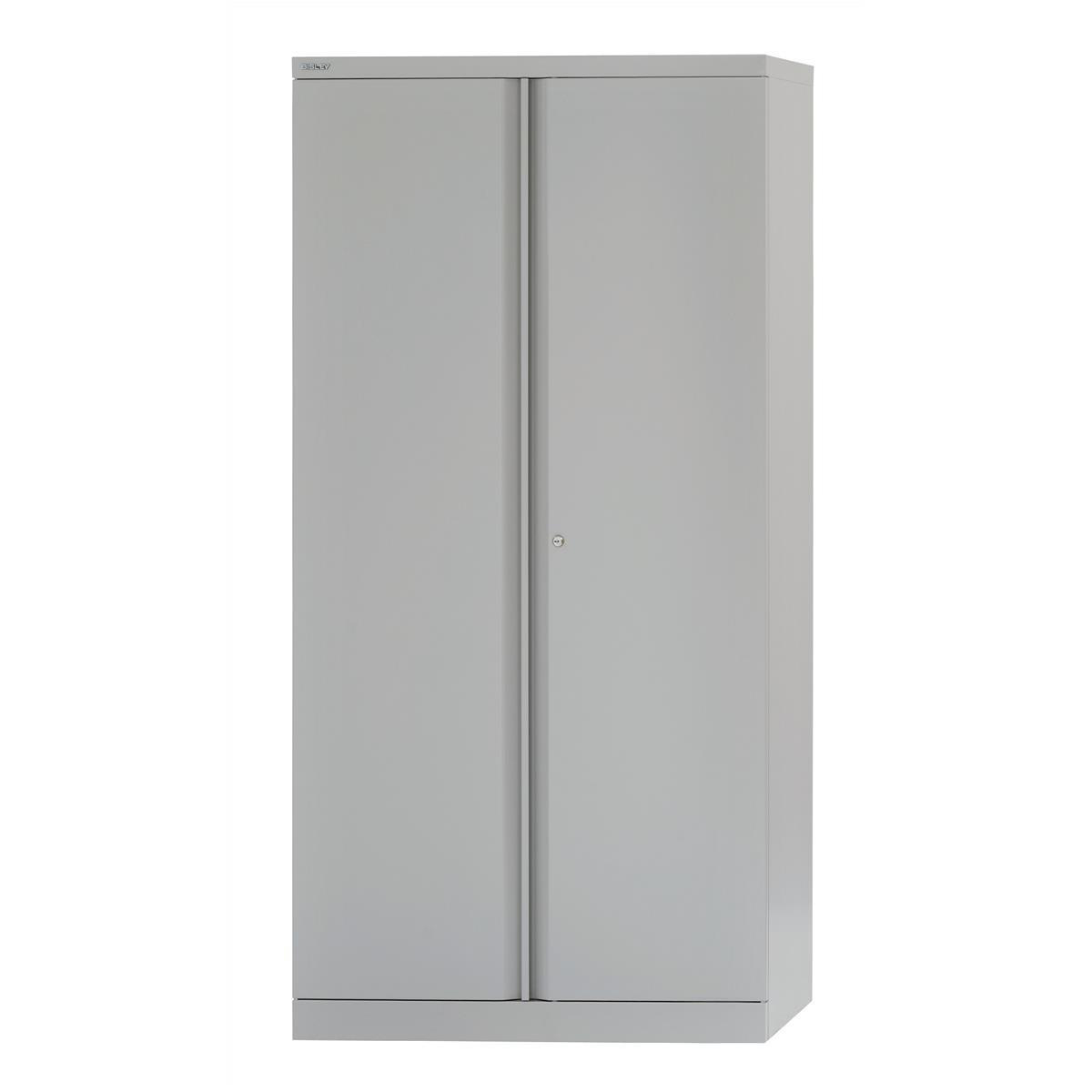 Bisley Two Door Steel Storage Cupboard 914x470x1970-1985mm with 4 Shelves Grey Ref YECB0919/4S