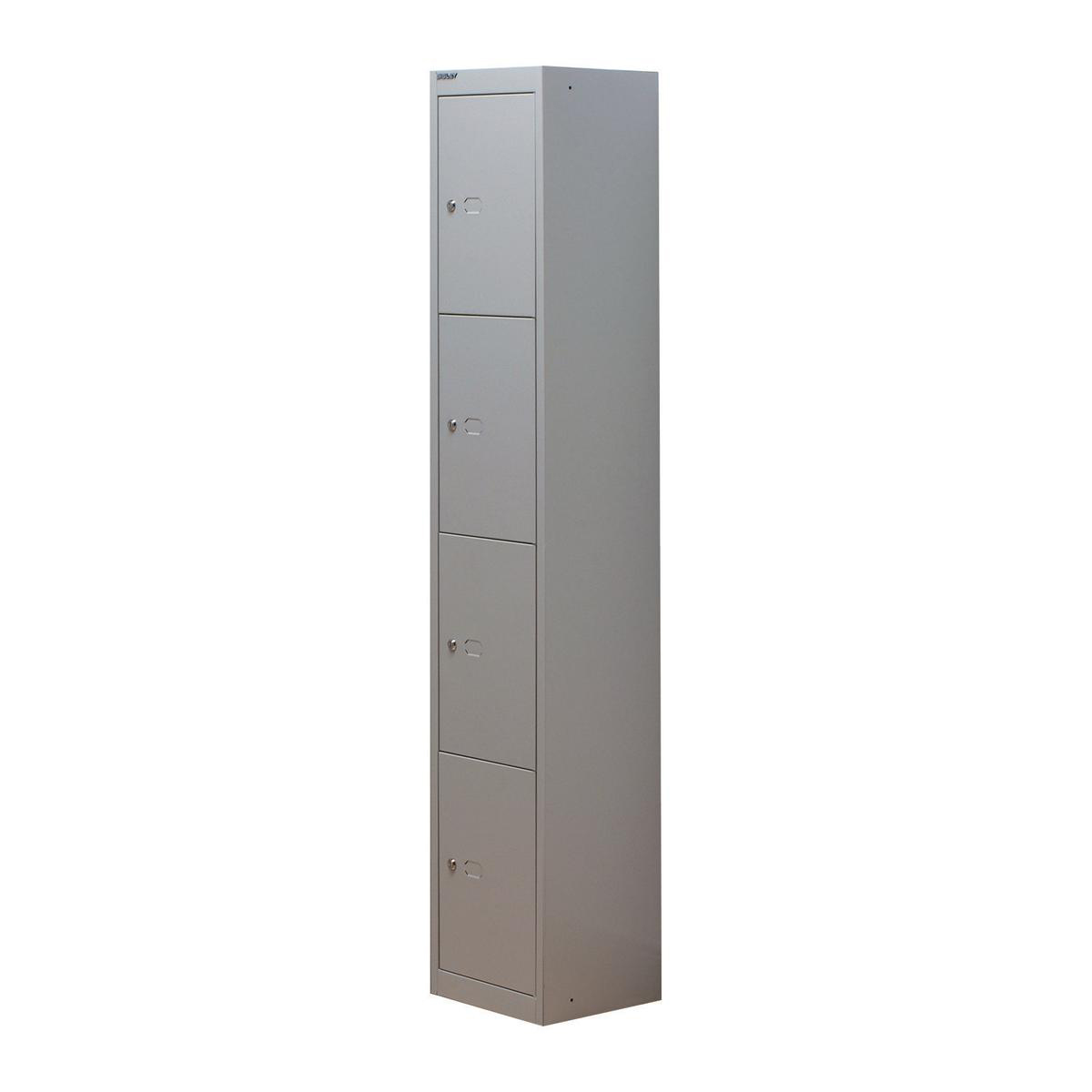 Lockers Bisley Locker 4 Door Goose Grey 305d Ref CLK124-av4