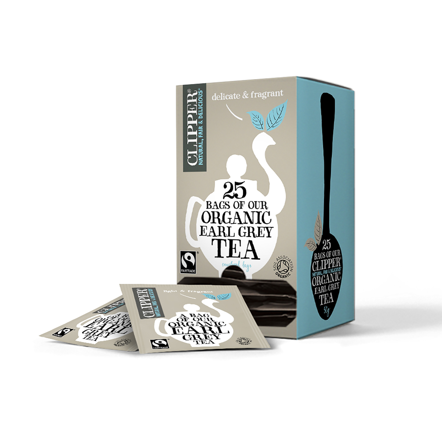 Tea Clipper Fairtrade Organic Earl Grey Tea Bags Ref 0403265 Pack 25