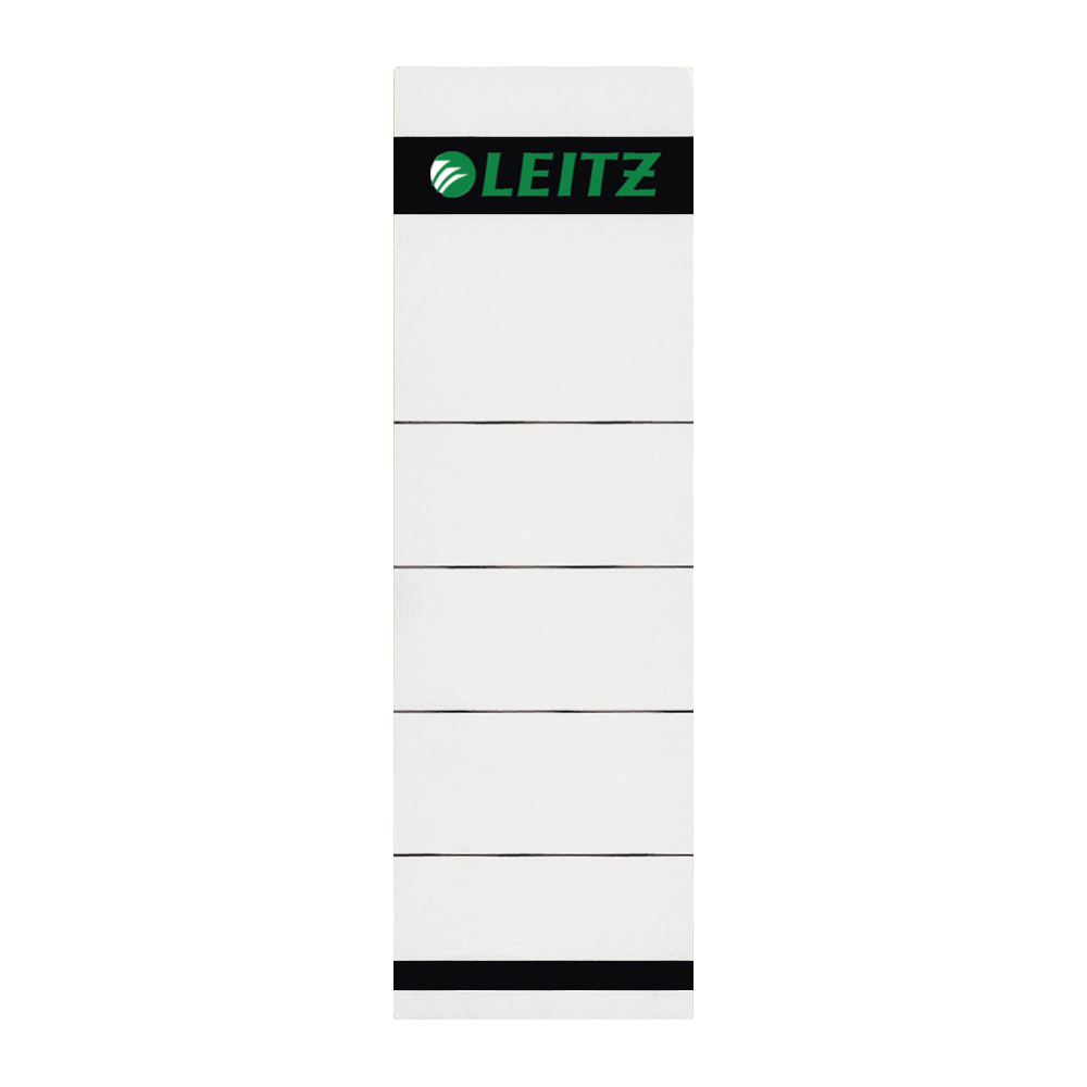 Self Adhesive Filing Strips Leitz Replacement Spine Labels for Standard Board Files Self Adhesive Ref 1642-00-85 Pack 10