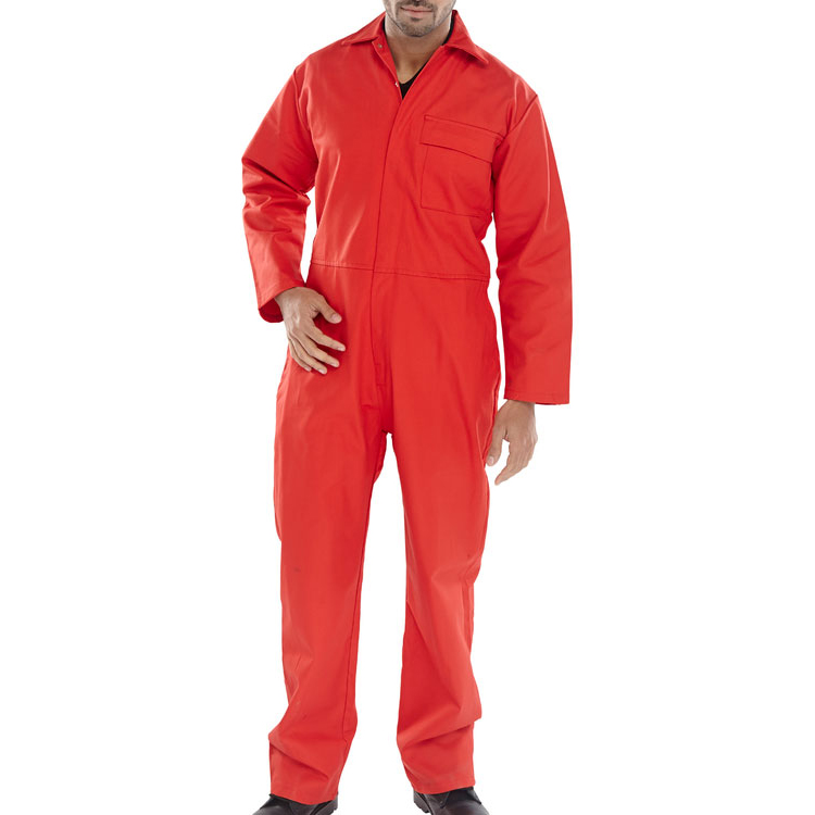 Coveralls / Overalls Click Fire Retardant Boilersuit Cotton Size 60 Red Ref CFRBSRE60 *Up to 3 Day Leadtime*
