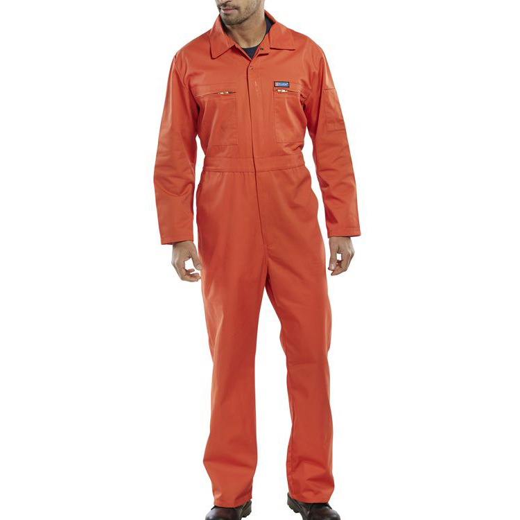 Protective coveralls Super Click Workwear Heavy Weight Boilersuit Orange Size 42 Ref PCBSHWOR42 *Up to 3 Day Leadtime*