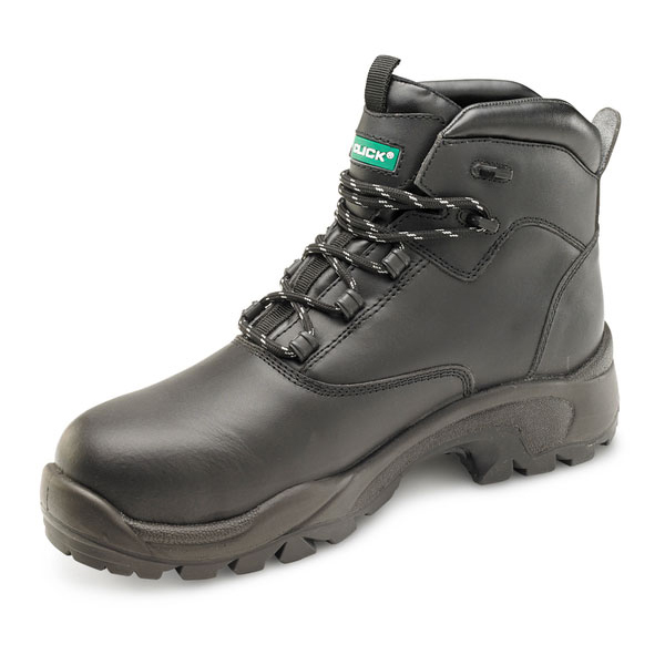 Safety boots Click Footwear Non Metallic S3 PUR Boot PU/Rubber/Leather 11 Black Ref CF65BL11 *Up to 3 Day Leadtime*