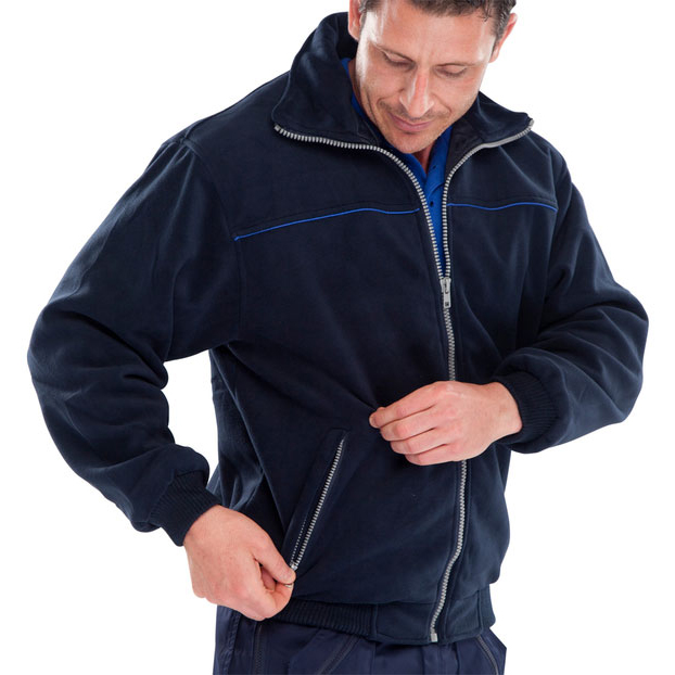 Click Workwear Endeavour Fleece with Full Zip Front XL Navy Blue Ref EN28NRXL *Up to 3 Day Leadtime*