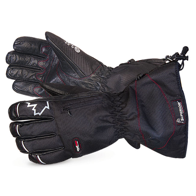 Superior Glove Snowforce Buffalo Leather Palm Winter Glove L Black Ref SUSNOW385L *Up to 3 Day Leadtime*