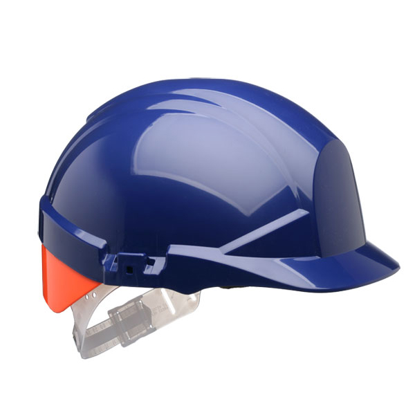 Centurion Reflex Safety Helmet Blue with Orange Rear Flash Blue Ref CNS12BHVOA Up to 3 Day Leadtime