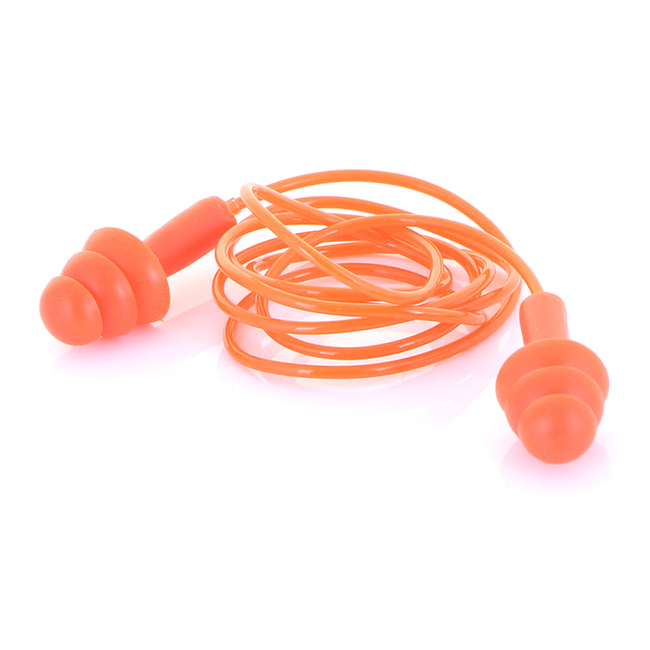 B-Brand Corded Moulded Ear Plugs Orange Ref BBEP60C Pack 200 *Up to 3 Day Leadtime*