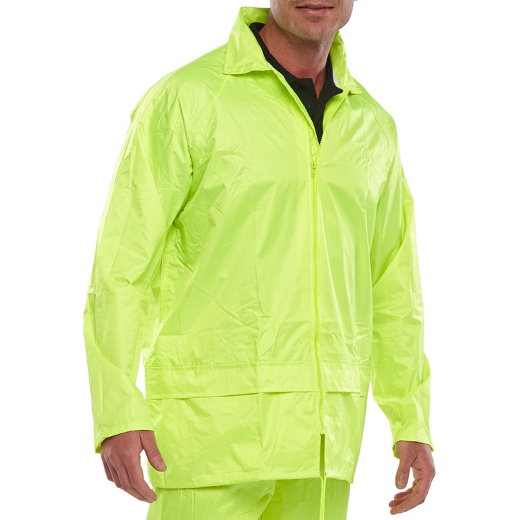B-Dri Weatherproof Jacket Hood Lightweight Nylon XL Saturn Yellow Ref NBDJSYXL *Up to 3 Day Leadtime*