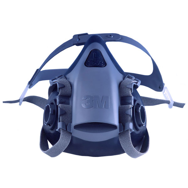 3M Silicone Half Mask Heat-resistant Medium Blue Ref 7502 *Up to 3 Day Leadtime*