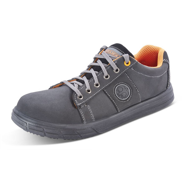 Safety shoes Click Footwear Sneaker Trainers Nubuck Size 11 Black Ref CF1811 *Up to 3 Day Leadtime*
