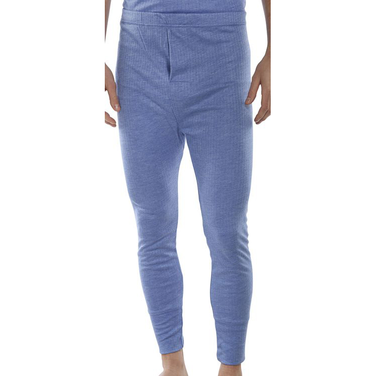 Body Protection Click Workwear Thermal Long John Trousers Small Blue Ref THLJS *Up to 3 Day Leadtime*