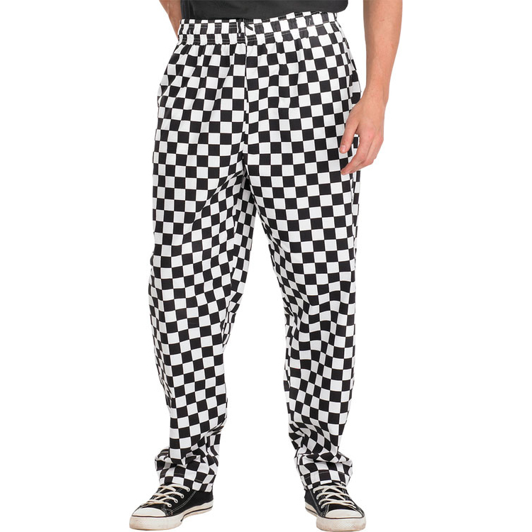 Click Workwear Chefs Trousers S Black/White Ref CCCTBLWS *Up to 3 Day Leadtime*