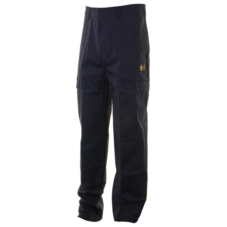Click Fire Retardant Trousers Anti-static Cotton 48 Navy Ref CFRASTRSN48 Up to 3 Day Leadtime
